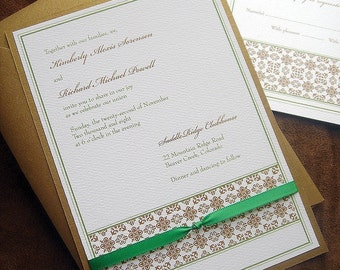 Tuscan wedding invitations