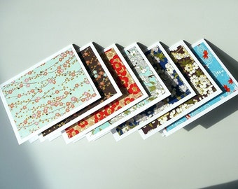 Japanese Blossoms Card Collection - Set of 12