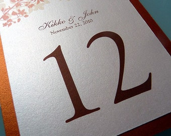 Amber Silhouette Double Layered Table Numbers