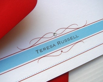 Flourish Band Flat Note Cards - Set of 12