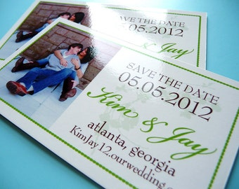 75 Cotton Blossoms Save the Date Magnets