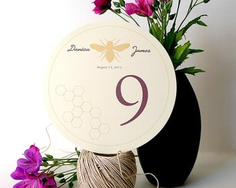 15 Honeybee Circle Table Numbers for Your Wedding Reception