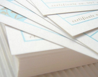 100 Gift Certificates Designed to Match Your Shop Banner