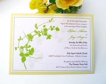 Cotton Blossoms Wedding Invitation