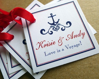 100 Love is a Voyage Favor Tags