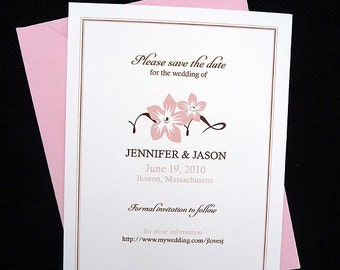 50 Sweet Blossoms Save the Date Cards