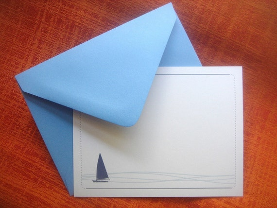 Peaceful Sailing Note Cards - Set of 12