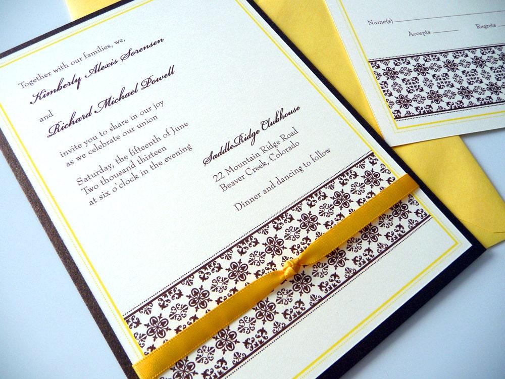 Tuscan Themed Wedding Invitations: Tuscan Romance Wedding Invitations By PrettyStationeryShop