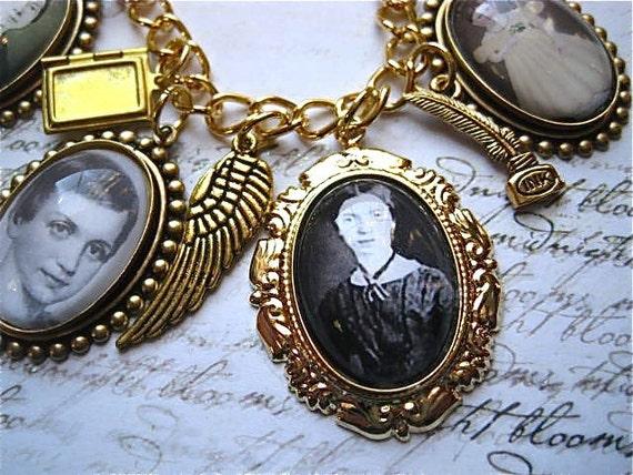 Emily Dickinson Everlasting Charm Bracelet