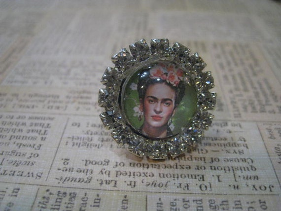 Frida Kahlo Rhinestone Ring