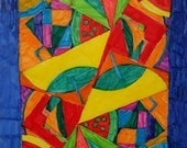 Multi Color Mosaic Greeting Card from Brynn's Artwork Collection To Benefit Heart Strings