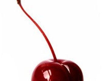 cherry lampwork bead -  debra kallen