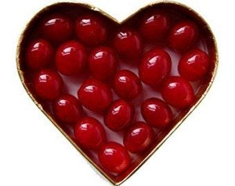 cranberry or cranberries lampwork beads - debra kallen