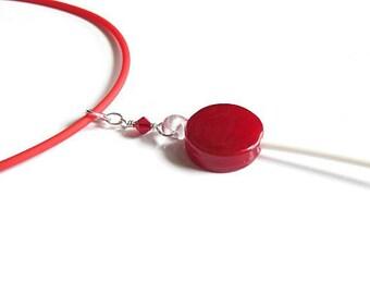 glass candy lollipop pendant