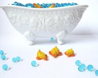 duck lampwork beads - debra kallen