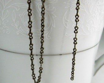 6 ft. Brass antiqued fine cable peanut chain 1mm links