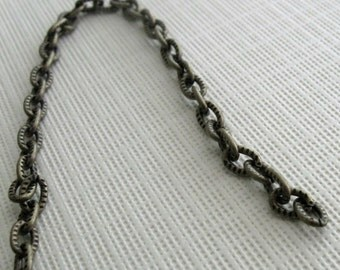 Antiqued brass fancy cable chain 3 feet 5mm links