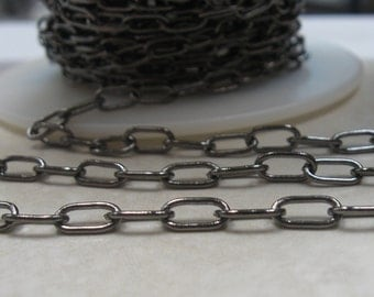 Gunmetal drawn large cable chain 7mm links 6 ft.