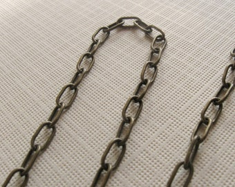 3 ft. Antique brass drawn large cable chain 7mm links