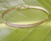 Pretty 4-Strand Gold Wire-Wrapped Bracelet