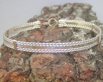 Dynamite Two-Tone Wire-Wrapped Bracelet