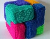 Soma Cube - PDF Knitting Pattern
