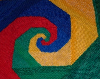 Swirl Without End - PDF pattern for knitted afghan