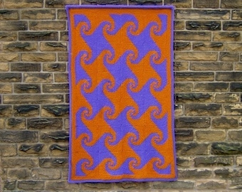 Best of Both Whirls - PDF pattern for knitted afghan/wall-hanging