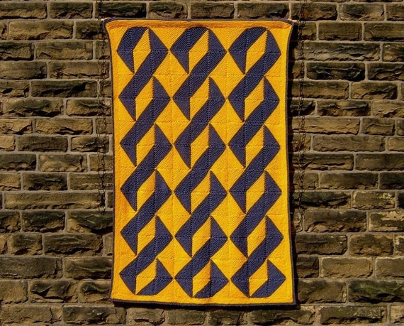 About Turn - PDF pattern for knitted afghan or wall-hanging