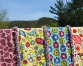 RESERVED - 2 Handmade Baby Rag Quilts - Super Soft Flannel