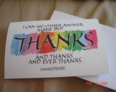 Shakespeare Thank You Cards