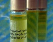 Mini Skirt Perfume Oil Body Oil Organic Jojoba Oil Roll On by Toadstool Soaps