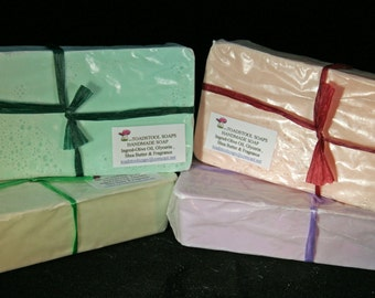 Almond Creme Soap Loaf One Pound Goatmilk Shea Butter Mango Butter Coconut Oil by Toadstool Soaps