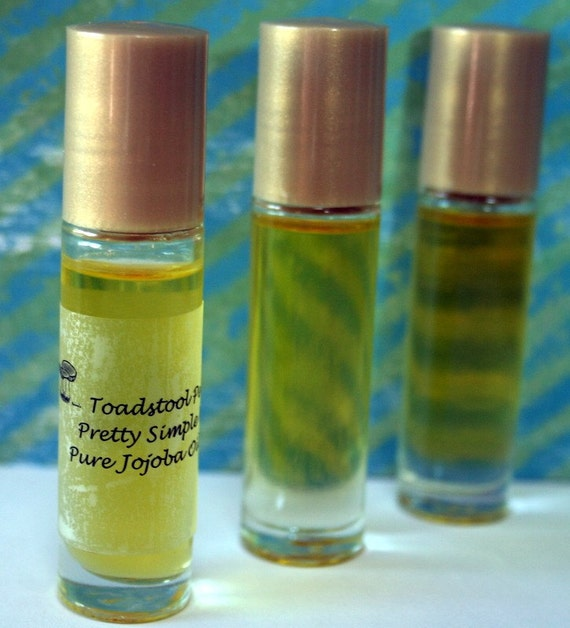 First Snow Perfume Oil Body Oil Organic Jojoba Oil Roll On made by Toadstool Soaps