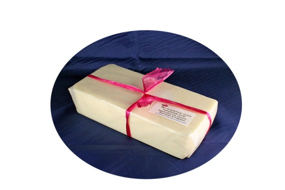 Strawberry Fields Soap Loaf  One Pound Goatmilk Shea Butter Mango Butter Coconut Oil by Toadstool Soaps