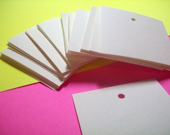 Square tags, earring cards, gift tags, product tags, set of 50, 2.5 x 2.5 inch