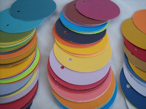 Circle Tags, Color Tags, Set of 50, Price Tags, Wedding Favor, Earring Tag