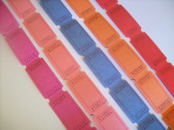 Carnival tickets - 100 Blank Tickets for Stamping and Scrapbooking