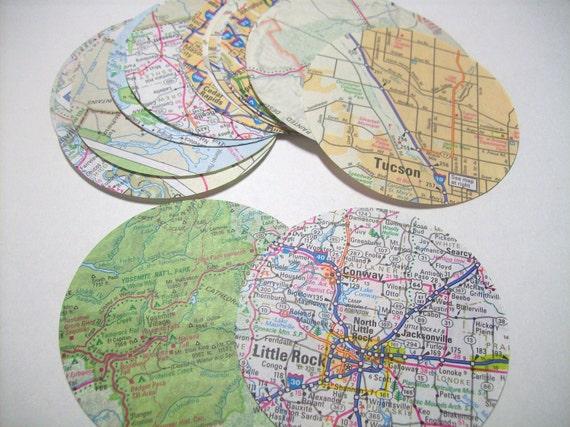 Map circles 2.5 inch