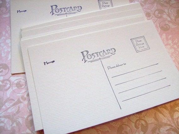 Postcard blanks - set of 50 - 4x6 soft white