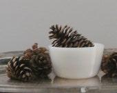 RESERVED FOR CARYLDEE Glasbake White Milk Glass Custard Ramekins set of 2