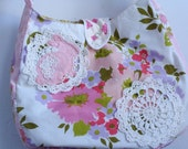 Original Pink Doily Bunny Hobo Bag OOAK on Sale
