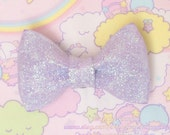Lavender Sparkly Fairy Kei Bow 2-Way Pin / Hair Clip