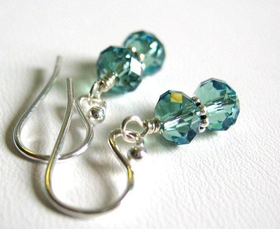 erinite swarovski dumbbell earrings