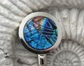 Fused Dichroic Glass Purse Hook Hanger 080310ph100