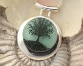 Reserved for TJ Tree of Life With Fused Dichroic Glass Pendant and Necklace 020311p109ik