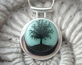 Tree of Life With Fused Dichroic Glass Pendant and Necklace 061511p100tbm