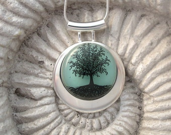 Tree of Life Necklace , Glass Necklace, Fused Glass, Glass Jewelry, Tree Necklace, Necklace, Tree Jewelry Fused Glass Jewelry 121113p104