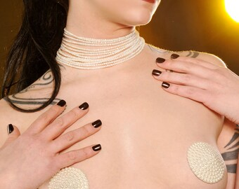 Couture Pearl Burlesque Pasties