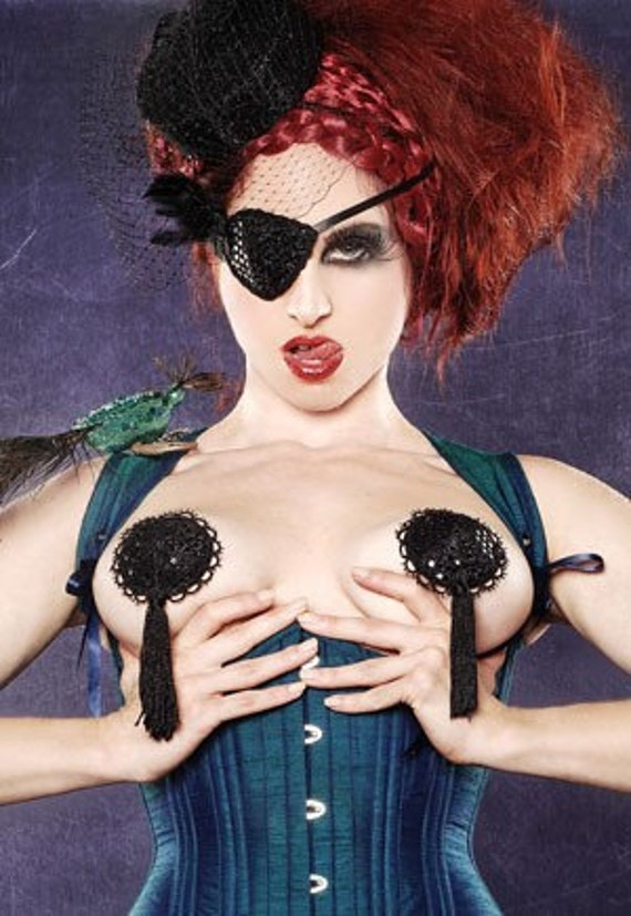 Midnight Black Burlesque Pasties